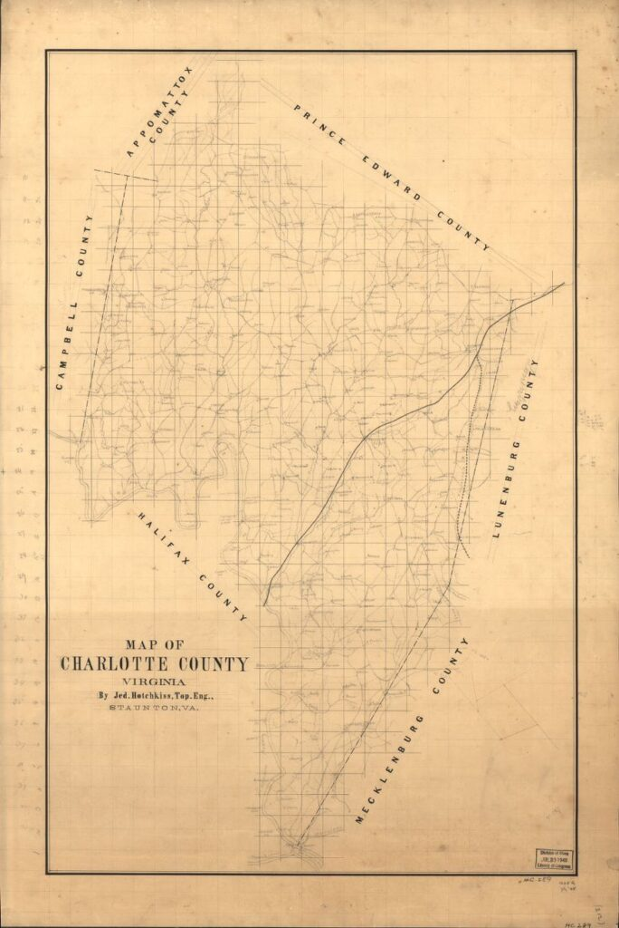 Second map of Charlotte County, Virginia