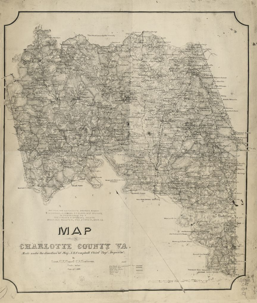 First map of Charlotte County, Virginia